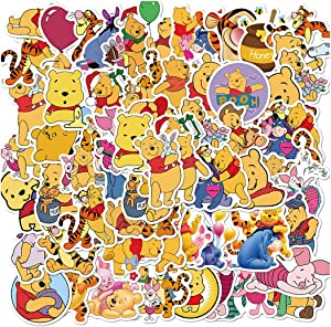 50Pcs Winnie The Pooh Eeyore Tigger Waterproof Stickers for Laptops Books Cars Motorcycles Skateboards Bicycles Suitcases Skis Luggage Hydro Flasks etc BJHSL