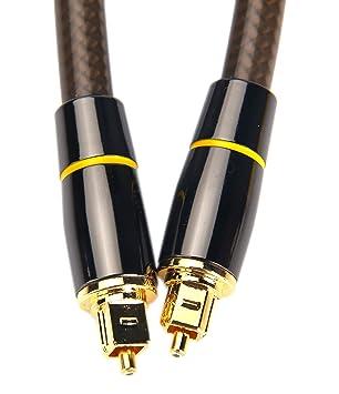 devinal Cables de Audio Digital óptico de cine en casa Cables de fibra óptica, Toslink