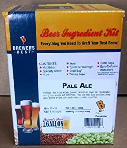 Brewer's Best One Gallon Home Brew Beer Ingredient Kit (Pale Ale)