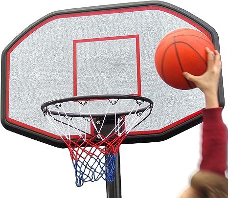 Set canasta de baloncesto con soporte y balón, pie con 2 ruedas ...