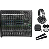 Mackie PROFX16v2 Pro 16 Ch 4 Bus Mixer W/Effects + USB+Rack Mount Bracket Kit