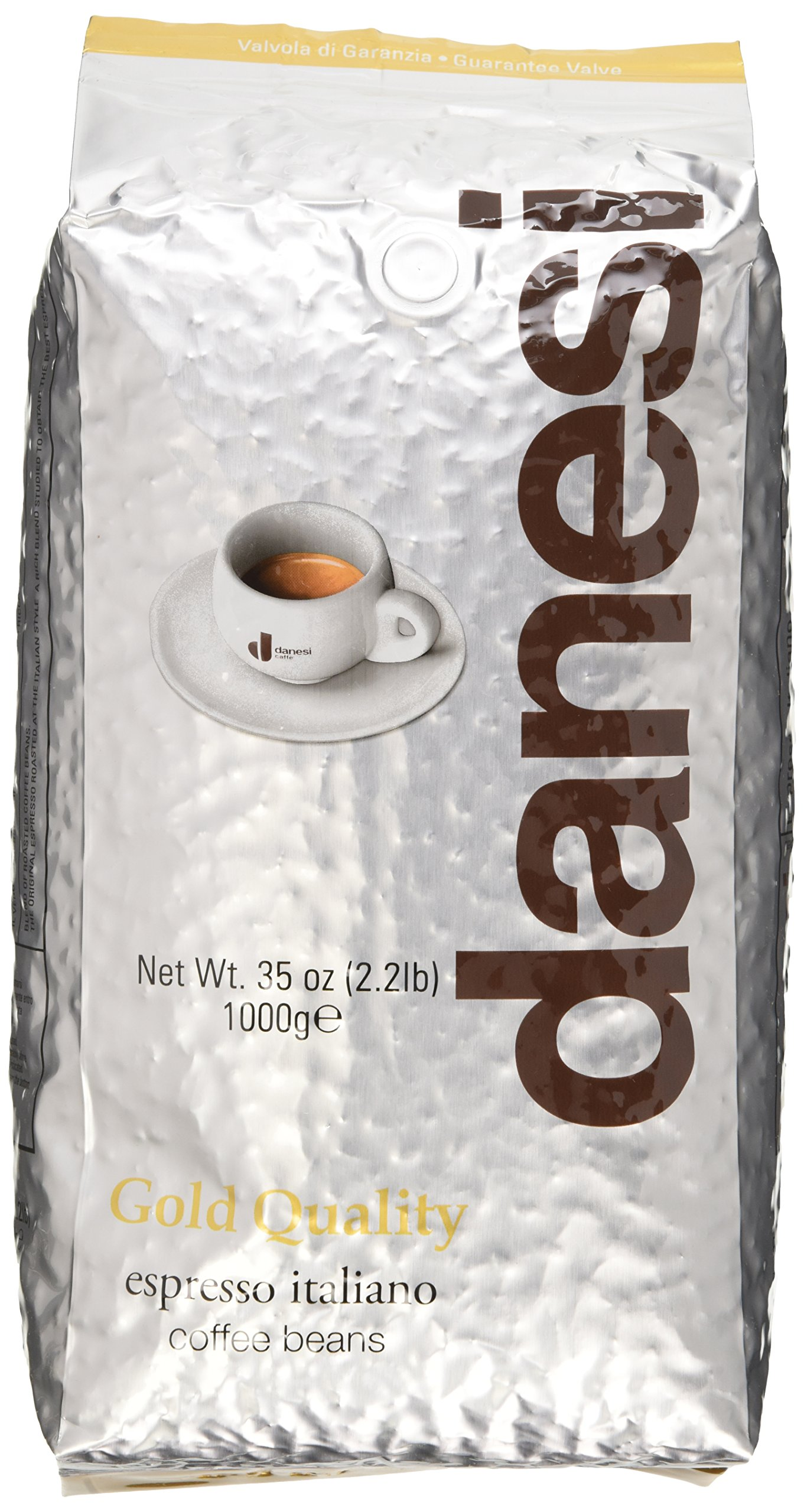 Danesi Gold Quality Beans 2.2 lbs bag Espresso Coffee Beans from Italy (2 x 2.2 lbs)