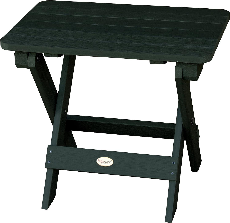 Highwood AD-TBS1-CHE Adirondack Folding Side Table, Charleston Green