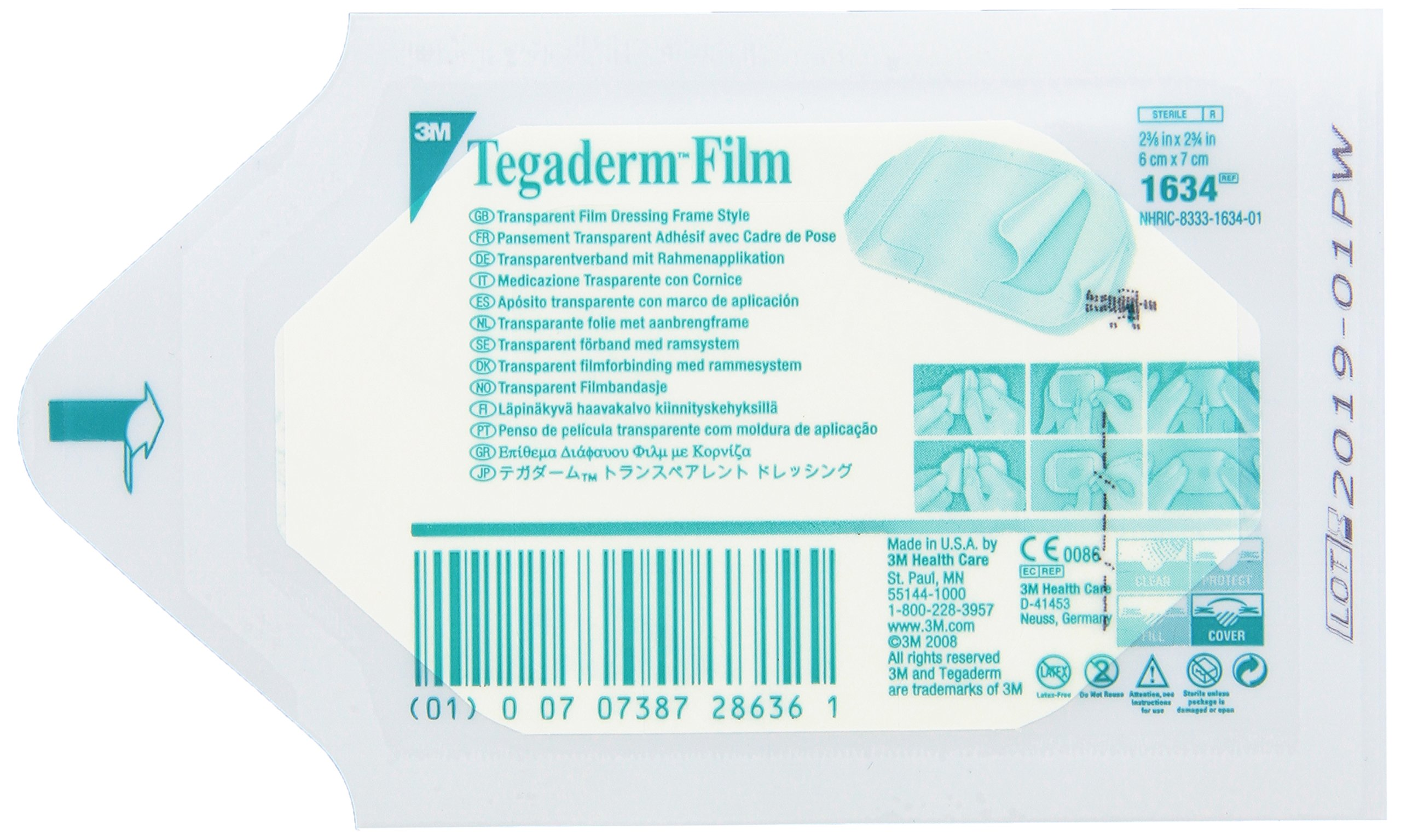 3M C3SD 1634 Tegaderm Transparent Film, Dressing Frame Style (Pack of 400) by 3M
