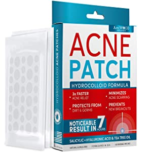 Acne Patches - Hydrocolloid Bandages with Salicylic & Hyaluronic Acids and Tea Tree Oil - Pimple Patches for Cystic Acne, Blemishes & Breakouts (120 Invisible Zit Stickers)