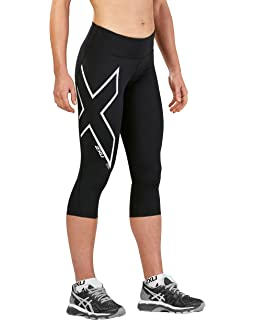 eb4ce2290885d Amazon.com: 2XU Men's HYOPTIK 3/4 Compression Tights, Black/Silver ...