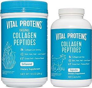 Vital Proteins Collagen Powder & Collagen Capsule Supplement
