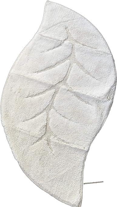 SANIFLOR Tappeto Bagno 55x110 Magnolia Colore Rosa Antiscivolo Design Foglia