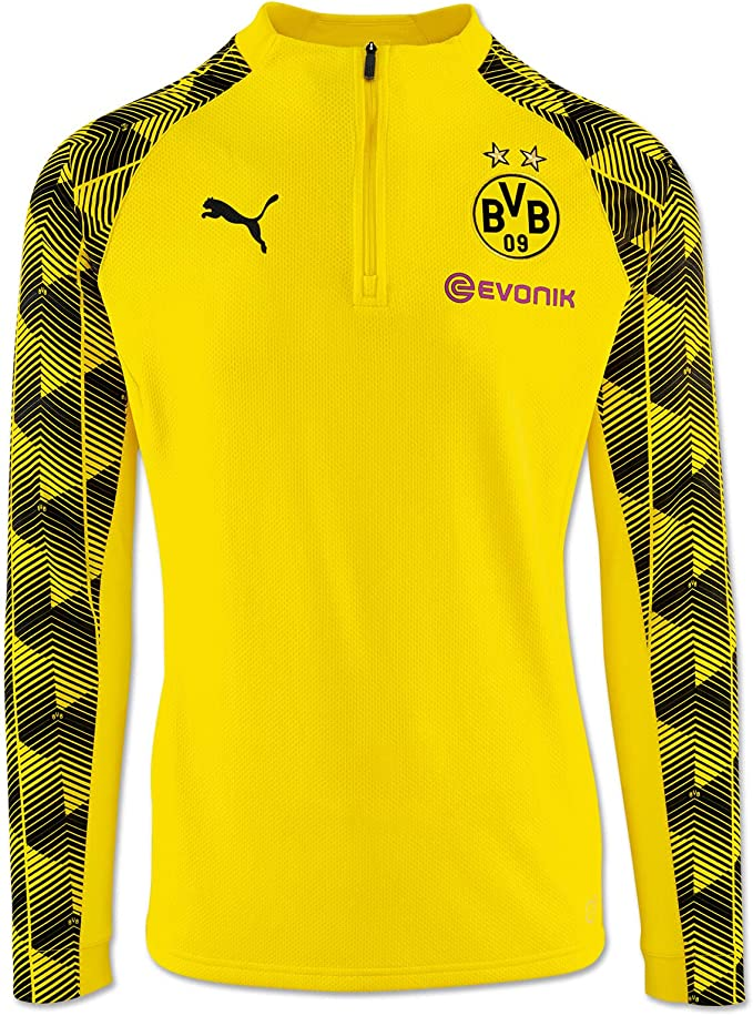 Puma Herren BVB Stadium 14 Zip Top Sweatjacke, Cyber Yellow