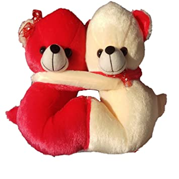 88b8e929d6 Buy Aafreen Soft Sweet Red And Cream Teddy Bear Couple Stuff Toy For  Special Valentine Gift 30Cm Online at Low Prices in India - Amazon.in