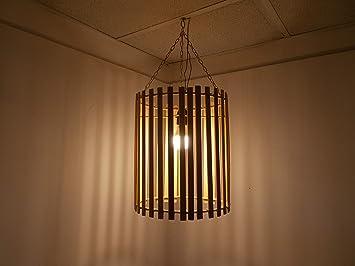 Lampadario marocchino bamboo bambù lampada applique lanterna