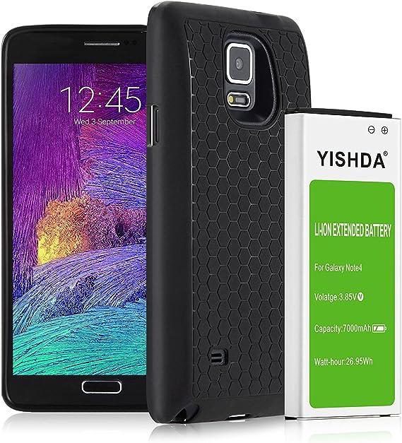 Galaxy Note 4 recargable, yishda 7000 mAh batería de iones de litio de repuesto para Samsung Galaxy Note 4 con tapa trasera y funda protectora – 18 meses de garantía: Amazon.es: Electrónica