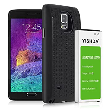 Galaxy Note 4 Recargable, yishda 7000 mAh batería de Iones ...