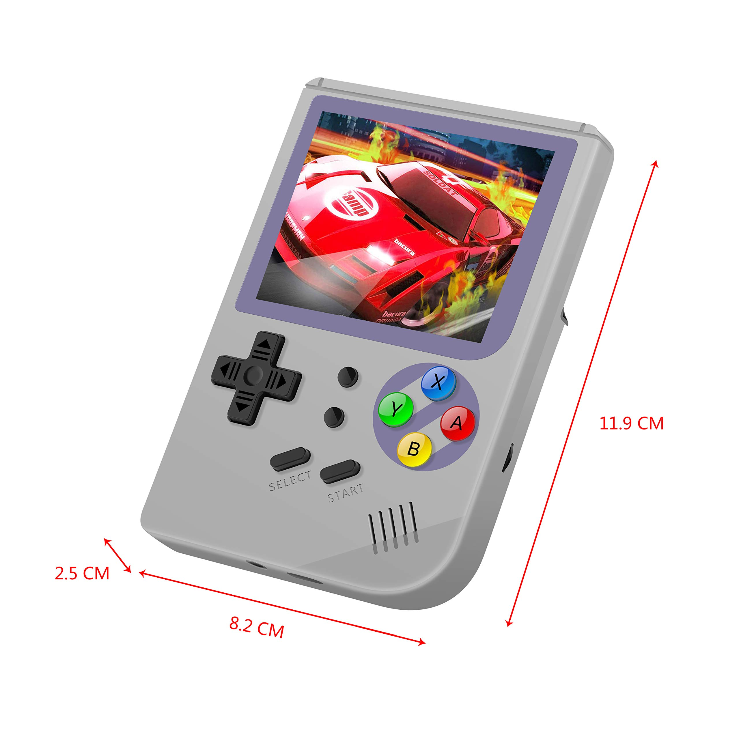 MJKJ Handheld Game Console ,RG300 Retro Game Console OpenDingux Tony System , Free with 32G TF Card Built-in 3007 Classic Game Console 3 Inch HD Screen Portable Video Game Console - Gray by MJKJ (Image #7)
