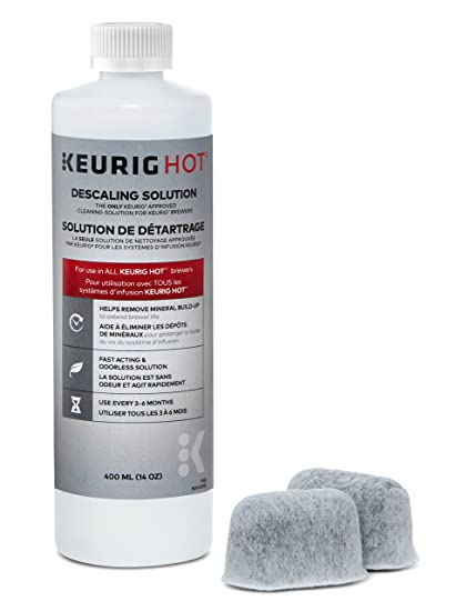 Amazon Keurig Brewer Care Kit with Descaling Solution and 2