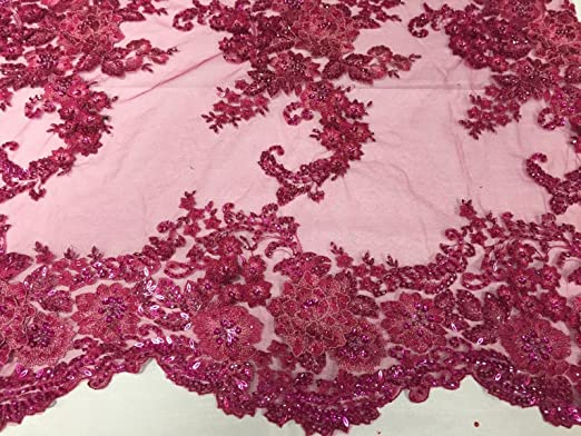 FABRIC By The Yard3D Flowers Beaded Mesh Lace Fabric With Handmade BeadsFloral Embroidery High Quality Lace Wedding Prom DressTurquoise
