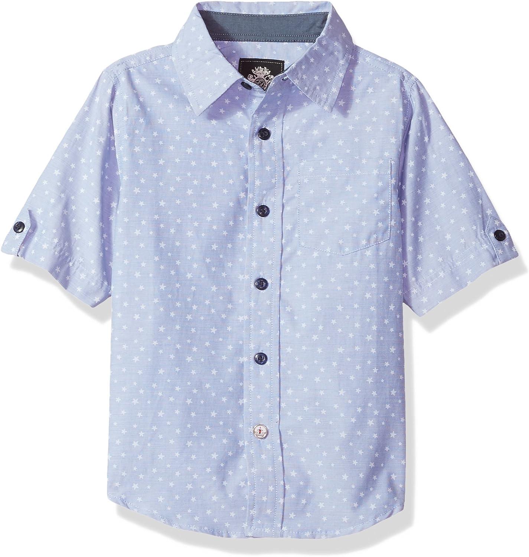 English Laundry Boys' Short Sleeve Plaid Cotton Poly Shirt (More Styles)