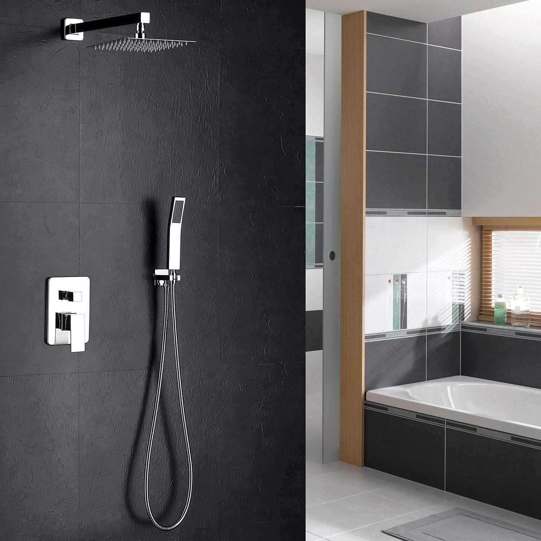 hm Set para la ducha,12 Pulgada LED multifuncional Sistema de ...