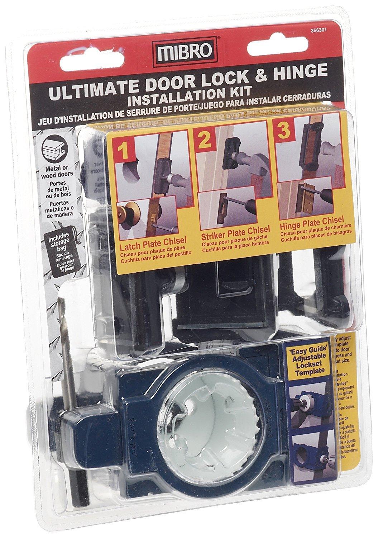 MIBRO 366301 Ultimate Door Lock and Hinge Installation Kit for Metal Doors by Mibro (Image #3)
