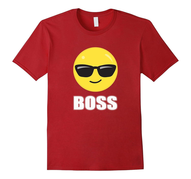 Boss Emoji Sunglasses T-Shirt Funny Boss Emoji Shirt-ANZ