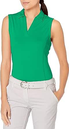 PGA TOUR Women's Standard Sleeveless Airflux Golf Polo Shirt