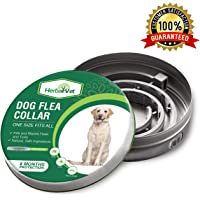 HerbalVet Dog Flea Collar for Flea and Tick Treatment and Prevention for Dogs  One Size Fits All, 100% Natural Oils, 100% Waterproof, 8 Month Essential Oil Flea Collar   Helpful E-Book Included