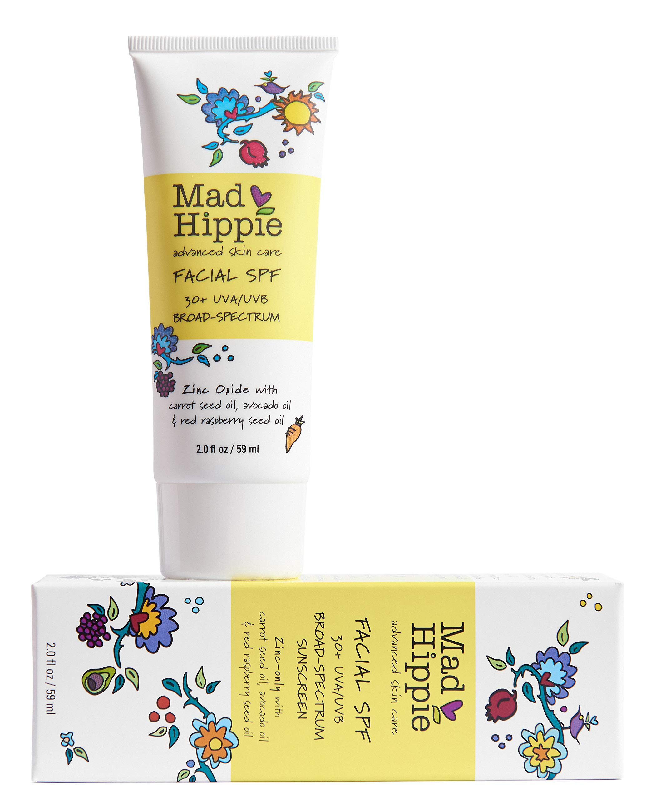 Mad Hippie Skin Care Products, Facial SPF, 30+ UVA/UVB Broad-Spectrum, 1.94 oz (55 g)