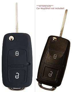 CK + Seat Auto de llave móvil Key Cover Case Funda Silicona para Ibiza Leon Alhambra Altea…