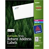 Avery Return Address Labels, White, 0.66 x 1.75 inches, Pack of 600 (42895)