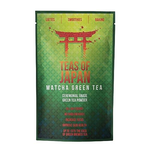 Teas Of Japan® Premium Japanese Matcha Green Tea, Highest Quality Ceremonial Grade Green Tea Powder