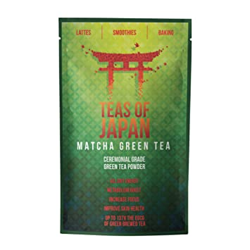 Teas Of Japan® Premium Japanese Matcha Green Tea - Highest Quality Ceremonial Grade Green Tea