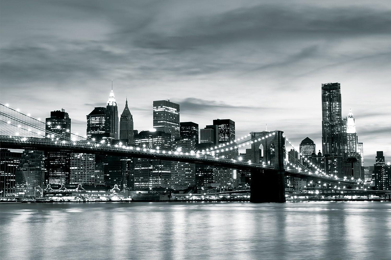 Brooklyn Bridge New York Black White Contrast Wallpaper Mural