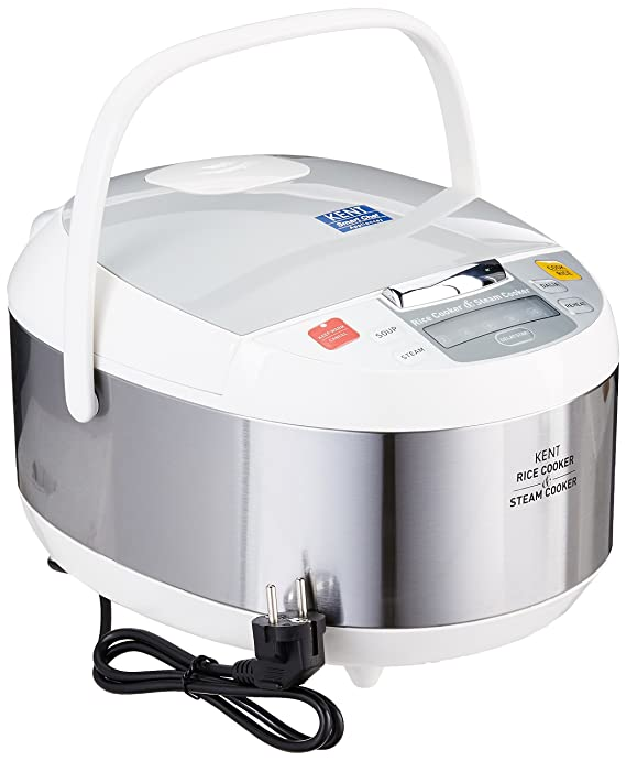 Buy kent rice and steam cooker 860 watt steel grey online at low buy kent rice and steam cooker 860 watt steel grey online at low prices in india amazon fandeluxe Image collections