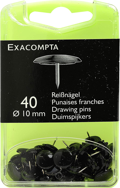 Boite de 40 punaises linicolor hauteur de pointe 7mm 10mm de diametre