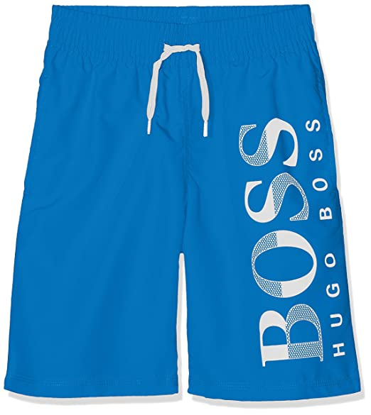 e45025cb BOSS Boy's Surfer Swim Shorts, (Bright Turquoise 76n), 4 Years (Size