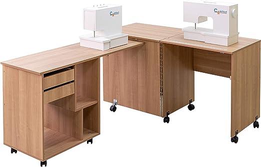 Comfort 8 | Mesa para máquina de coser y overlock | (Walnut Aida ...
