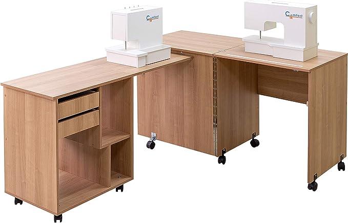 Comfort 8 | Mesa para máquina de coser y overlock | (Oak Kendal ...
