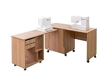 Comfort 8 | Mesa para máquina de coser y overlock | (Oak Kendal Cognac): Amazon.es: Hogar