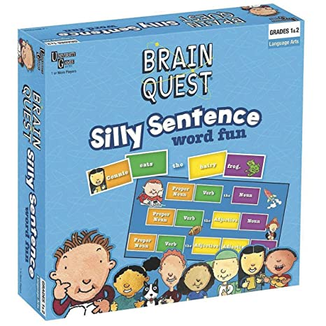 amazon com university games brain quest silly sentence game