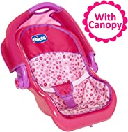 Baby Doll Car Seat Carrier with Canopy, For Baby Dolls Up To 18 Inches Tall, For Girls ages 3, 4, 5, 6 and 7 Years Old, Perfe