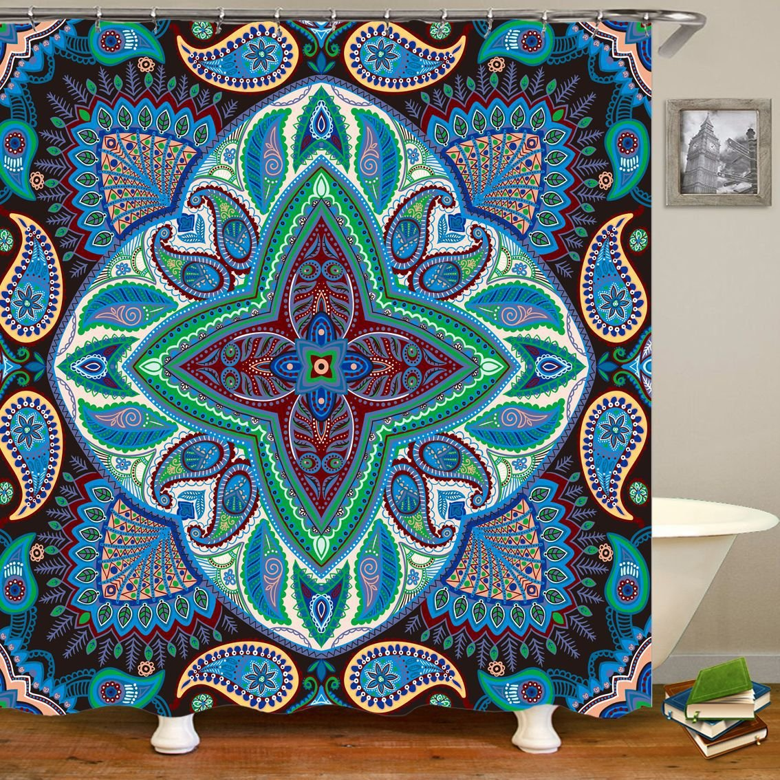 Boho Psychedelic Tapestry Hippie Mandala Wall Hanging Sheet Coverlet Picnic Bedspread Curtain Decor Magical Thinking Bohemian Decoration for Home Dorm Room YLB24 (Style 1, 59 W*72 H) 59 W*72 H) ZhuoLang