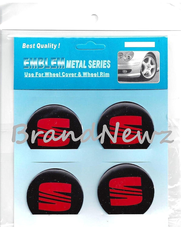 Adhesivo con logotipo para tapacubos, emblema de Seat en color rojo, 55 mm, 4 unidades: Amazon.es: Coche y moto