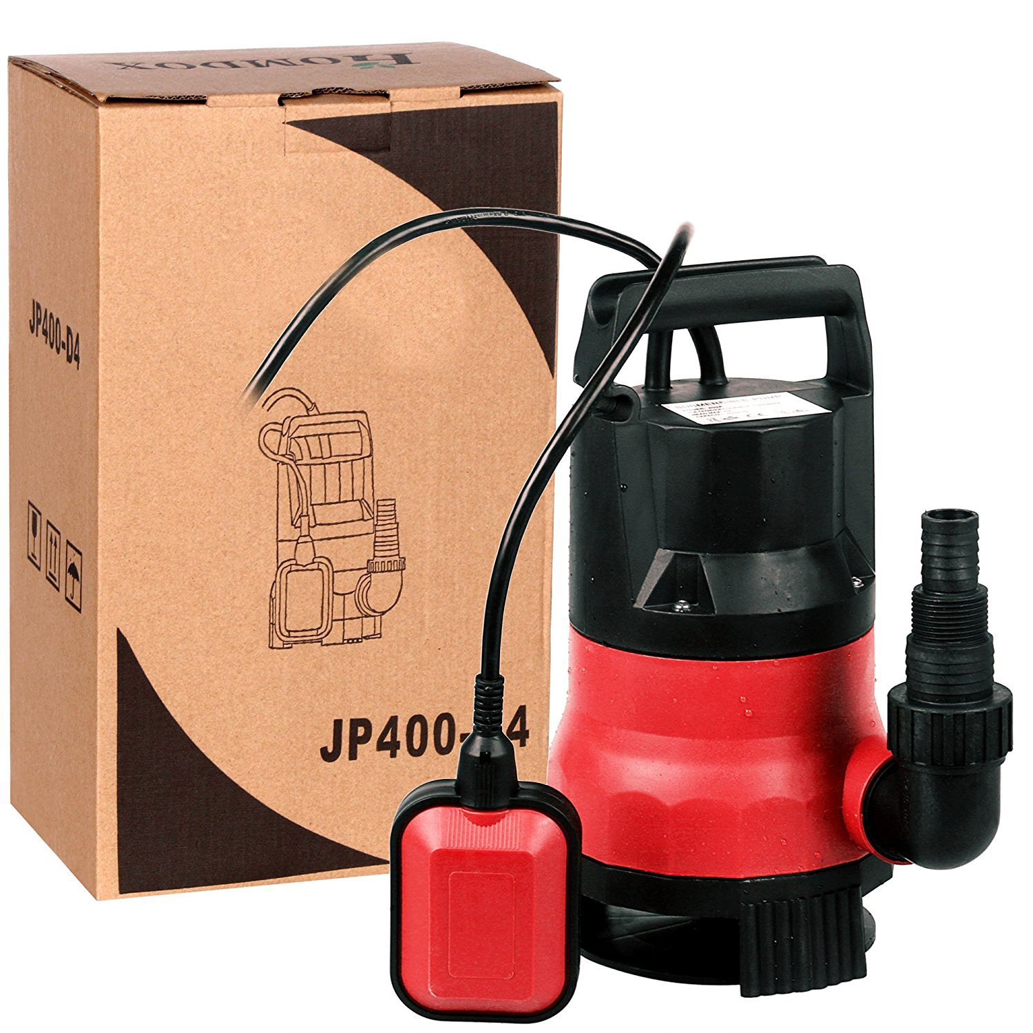 1/2 Hp Submersible Sump Pump 2115GPH Dirty Clean Water Pump with Float Switch