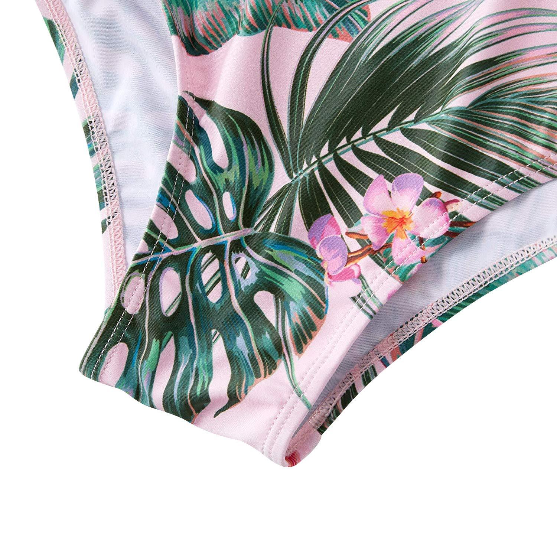 2019 Family Matching Swimwear Mommy and Me Swimsuit One Pieces Monokini High Waisted Bathing Suits Bikini Set