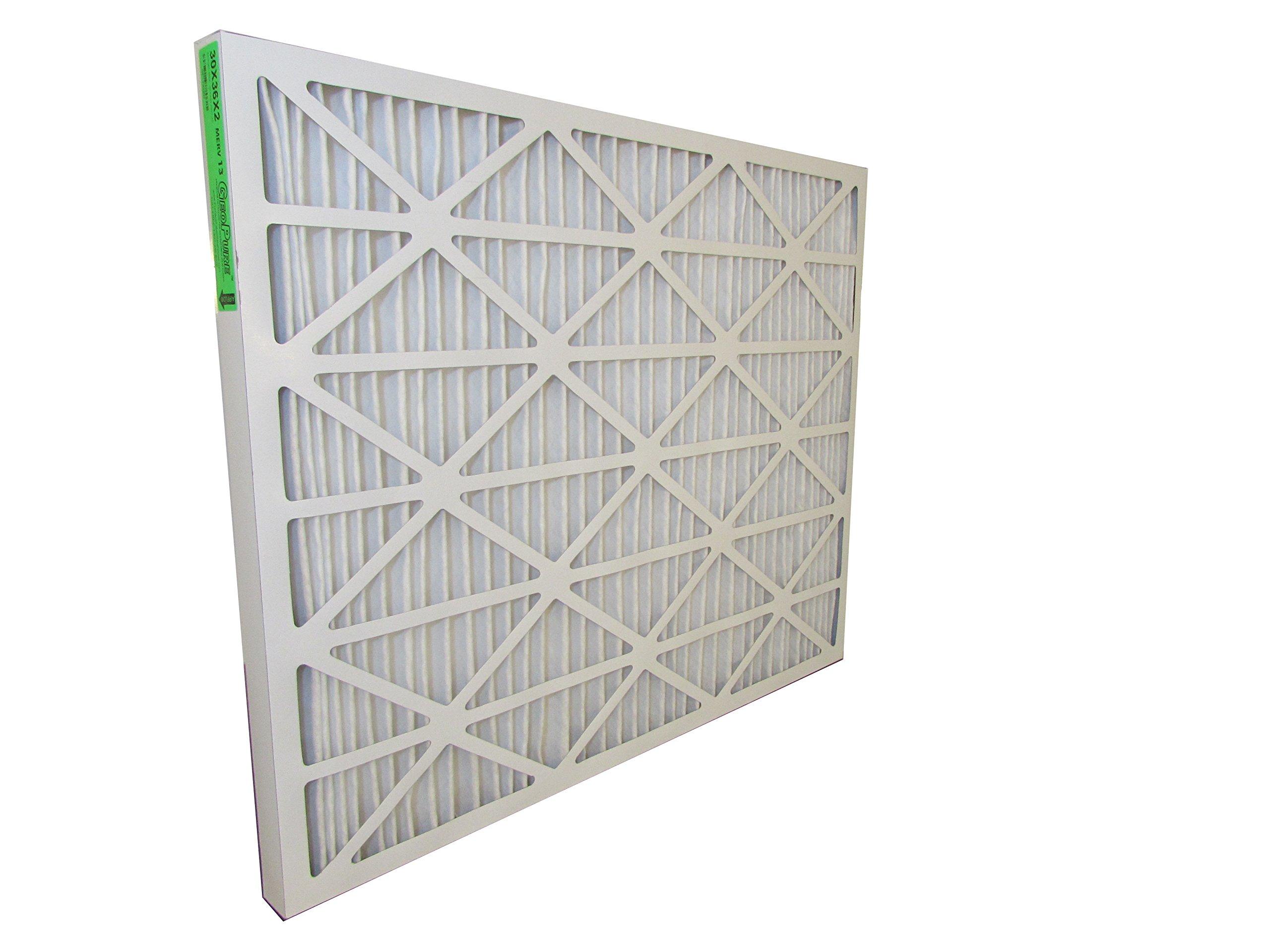 30x36x2 MERV 13 GeoPure Geothermal Air Filter (pack of 6)