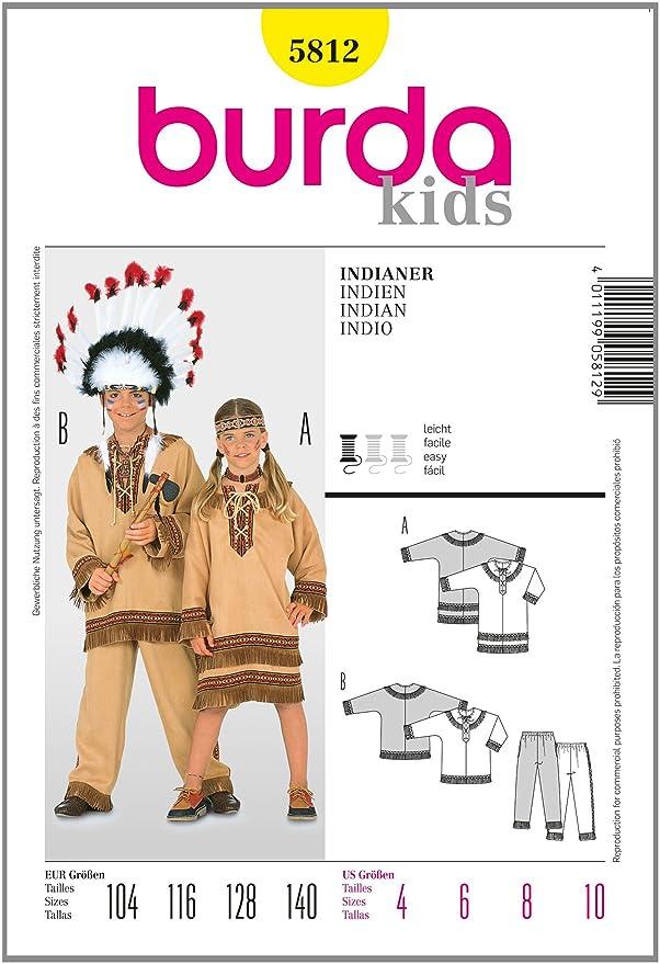Burda Schnittmuster 5812 Indianer Gr. 104-140: Amazon.de: Küche ...