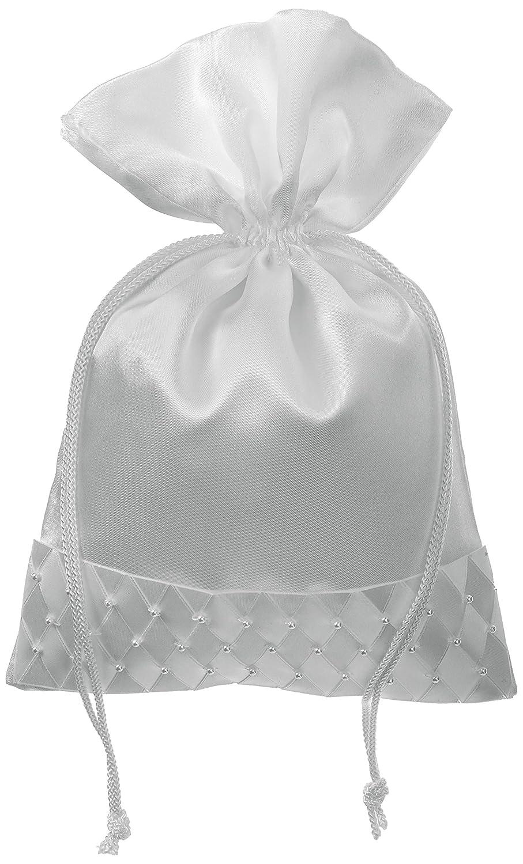 Amazon.com: Darice VL30051 Wedding Drawstring Bridal Favor Bag with ...