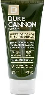 product image for Duke Cannon Supply Co. - Superior Grade Shave Cream, Smells Like Accomplishment (6 oz) Superior Grade Shaving Cream for The Least Irritating Shave Ever - Bergamot and Black Pepper