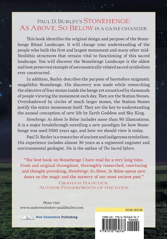 Read Stonehenge As Above So Below By Paul D Burley