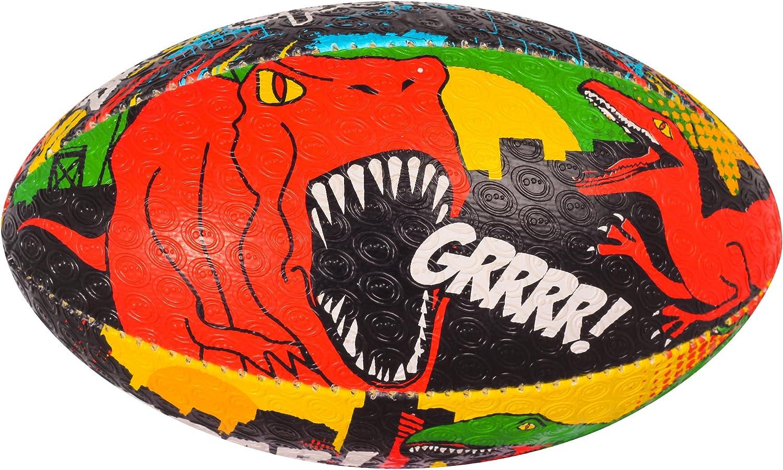 Mehrfarbig-Mehrfarbig Redondo Ball Actisan Unisex-Youth Optimum Optimaler Dino City Rugbyball Mini DinoCity
